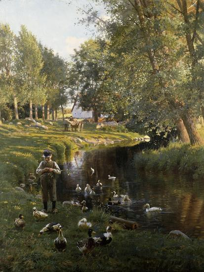 By the River, Apperup-Frants Henningsen-Giclee Print