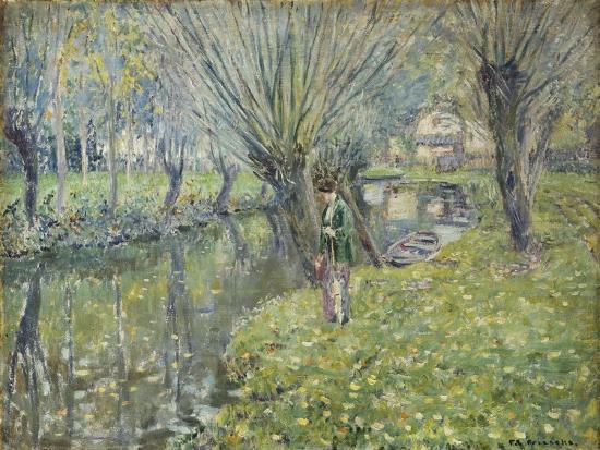 By the River-Frederick Carl Frieseke-Giclee Print