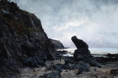 By the Rocks at Low Tide, 1878-Emmanuel Lansyer-Giclee Print