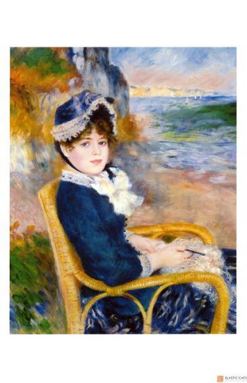 By the Sea Shore-Pierre-Auguste Renoir-Giclee Print