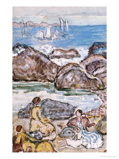 By the Sea-Maurice Brazil Prendergast-Giclee Print