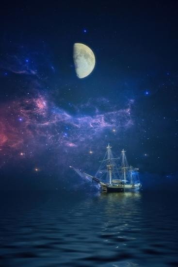 By Way of the Moon and Stars-John Rivera-Photographic Print