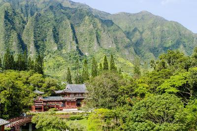 Byodo-In Temple, Valley of the Temples, Kaneohe, Oahu, Hawaii, United States of America, Pacific-Michael DeFreitas-Photographic Print