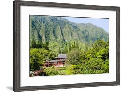 Byodo-In Temple, Valley of the Temples, Kaneohe, Oahu, Hawaii, United States of America, Pacific-Michael DeFreitas-Framed Photographic Print