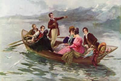 Byron and Shelley on the Lake of Geneva-Vicente De Paredes-Giclee Print