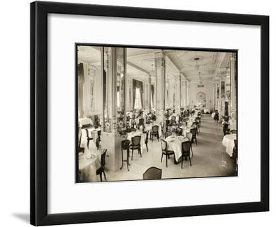 A Dining Room at the Robert Treat Hotel, Newark, New Jersey, 1916