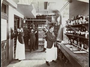 A Pantry at the Hotel Manhattan, 1902 by Byron Company