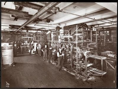 A Press Room at the McCall Publishing Co., New York, 1913