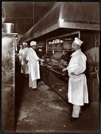 Chefs Cooking at Sherry's Restaurant, New York, 1902
