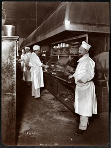Chefs Cooking at Sherry's Restaurant, New York, 1902 by Byron Company