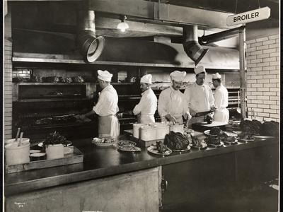 Cooks at the Broiler in the Kitchen of the Hotel Commodore, 1919