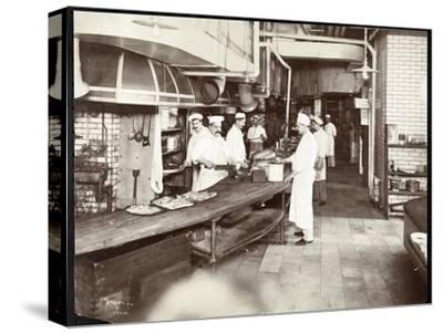 Cooks Working in the Kitchen of the Waldorf Astoria Hotel at 34th Street an