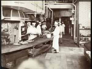 Cooks Working in the Kitchen of the Waldorf Astoria Hotel at 34th Street an by Byron Company