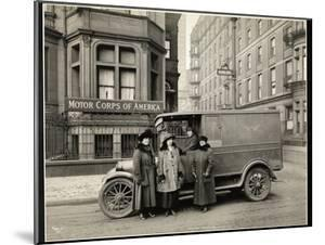 Four Women of the Motor Corps of America Standing in Front of an Ambulance (One Woman in Driver's… by Byron Company