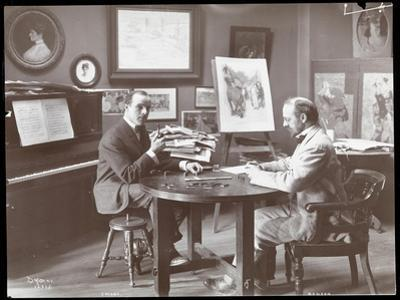 Michel Jacobs and Benson Playing Dominoes, 1907