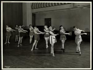 Mrs. Dean and Eight Dancing Girls in the Gymnasium of the New York Association for the Blind, 111… by Byron Company
