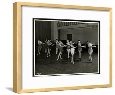 Mrs. Dean and Eight Dancing Girls in the Gymnasium of the New York Association for the Blind, 111…
