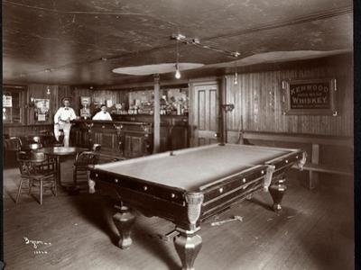 The Bar at Janer's Pavilion Hotel, Red Bank, New Jersey, 1903