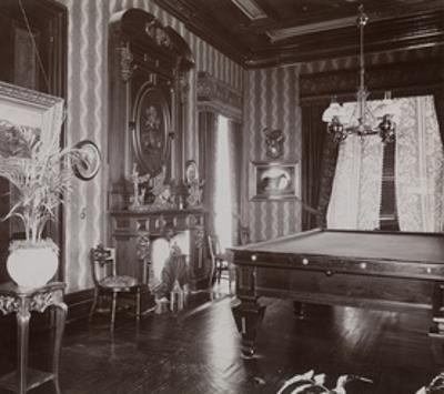 The Billiard Room at the John Jacob Astor Residence at Rhinecliff, N.Y., 1893-94