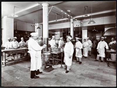 The Kitchen at the Hotel Manhattan, 1902