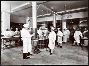The Kitchen at the Hotel Manhattan, 1902 by Byron Company