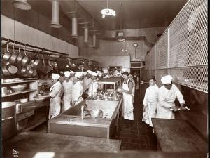 The Kitchen at the Philadelphia Ritz-Carlton Hotel, 1913 by Byron Company