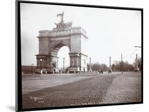 View of a Horsedrawn Carriage at an Entrance to Prospect Park, Brooklyn, 1903 by Byron Company