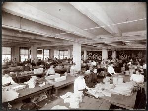 Women Packaging Patterns at McCall's Magazine, New York, 1913 by Byron Company