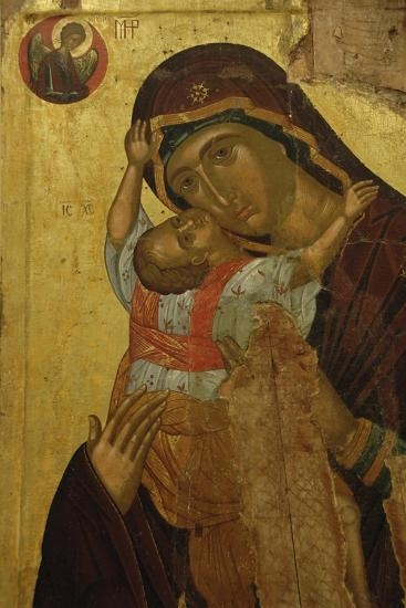Byzantine Art. Greece. Icon with the Virgin of Tenderness (Kaardiotissa)--Giclee Print
