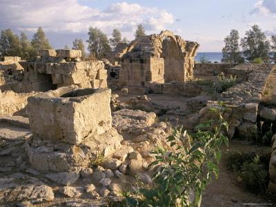 Byzantine Castle Dating from 7th Century, Ruined by Earthquake in 1222, Paphos, Cyprus-Michael Short-Photographic Print