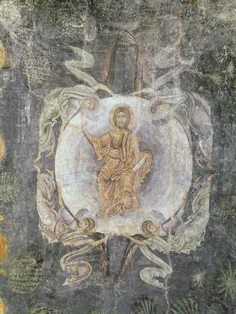 Christ in Majesty Surrounded by Four Angels, Ceiling Painting, 11th-14th Century (Fresco)