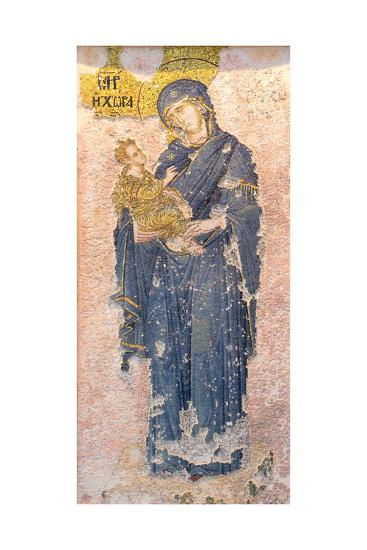 Byzantine Church of St. Saviour in Chora, Mosaic of the Virgin Mary Holding the Christ Child--Giclee Print