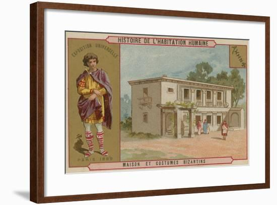 Byzantine House and Costumes--Framed Giclee Print