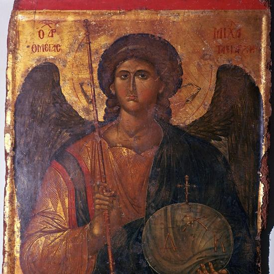 Byzantine icon of the Archangel Michael, 14th century. Artist: Unknown-Unknown-Giclee Print