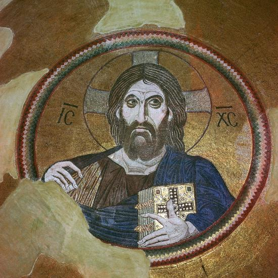Byzantine mosaic of Christ Pantocrator. Artist: Unknown-Unknown-Giclee Print