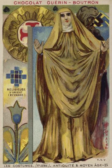 Byzantine Nun--Giclee Print