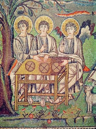 The Three Angels, Detail of the Hospitality of Abraham and the Sacrifice of Isaac, 6th Century