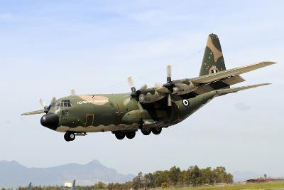 C-130 Hercules from the Hellenic Air Force Landing at Decimomannu Air Base, Italy-Stocktrek Images-Photographic Print
