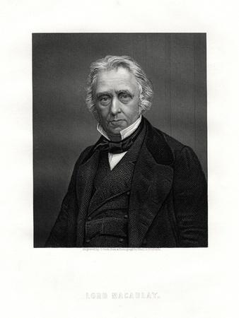 Thomas Macaulay, 1st Baron Macaulay, British Poet, Historian and Politician, 19th Century