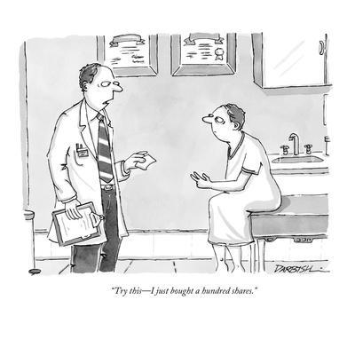 """""""Try this?I just bought a hundred shares."""" - New Yorker Cartoon"""