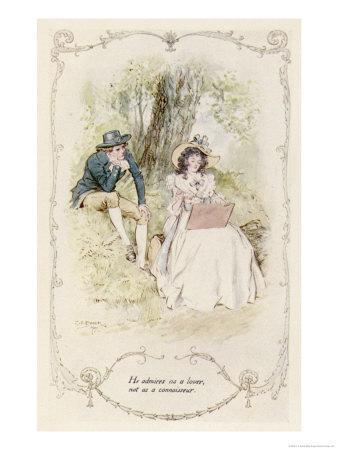 Elinor and Robert Sit Under a Tree