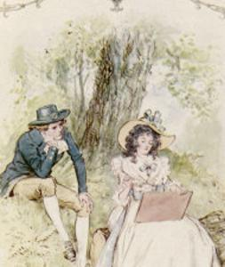 Elinor and Robert Sit Under a Tree by C^e^ Brock