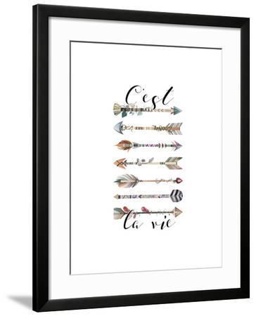 C'est La Vie Arrows-Tara Moss-Framed Art Print