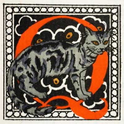 C' for Cat-Georges Barbier-Giclee Print