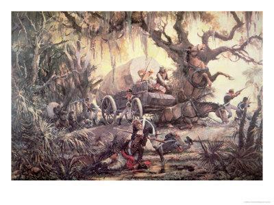 Seminole Indians Ambush a Us Marines Supply Wagon, 11th September 1812