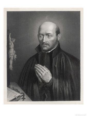Ignatius Loyola Spanish Saint Founder of Society of Jesus (Jesuits) in an Attitude of Prayer