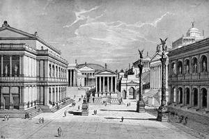 North and East Sides of the Forum, Rome by C Hulsen