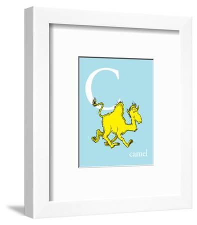 C is for Camel (blue)-Theodor (Dr. Seuss) Geisel-Framed Art Print