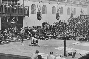The Heavyweight Championship at Aldershot, c1901, (1903) by C Knight