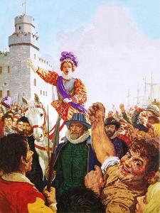 Queen Elizabeth I Making Her Armada Speech by C.l. Doughty